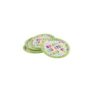 Boldog születésnapot tányér zöld