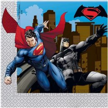 Batman vs Superman - Batman Superman Ellen Parti Szalvéta - 33 cm x 33 cm, 20 db-os