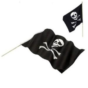 Fekete Koponya Mintás Kalóz Zászló