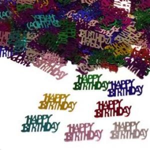 Happy Birthday Feliratú Szülinapi Parti Konfetti