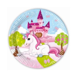Parti tányér unicornis