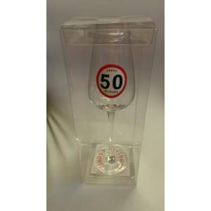 Sebességkorlátozós 50 -es pezsgős pohár