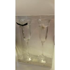 Esküvőre ajándék pezsgős pohár szett