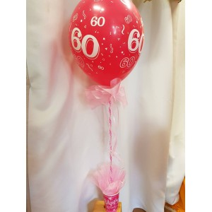 Asztaldísz 60 éveseknek