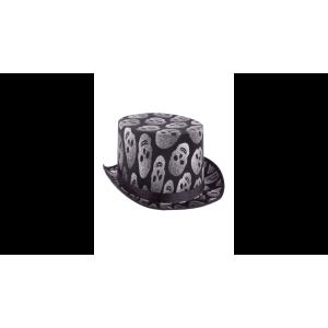 Koponyás glitteres kalap