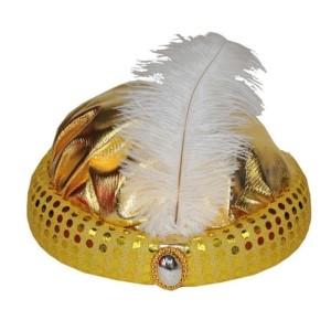 Arany textil turbán