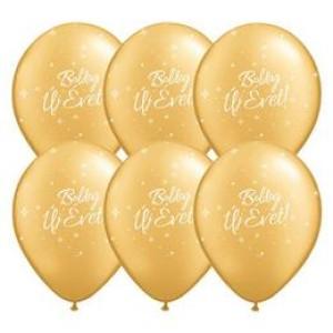 11 inch-es Boldog Új Évet Feliratú Gold Léggömb