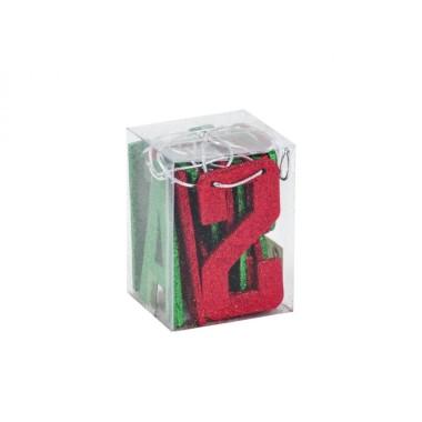 Girland Marry Christmas piros/zöld 14db 10cm-es betű