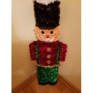 Karácsonyi dekoráció ólomkatona figura