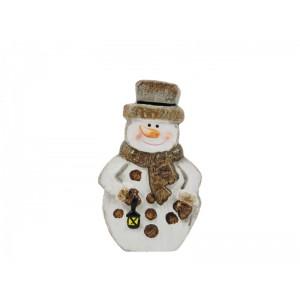 Karácsonyi figura 15 cm hóember