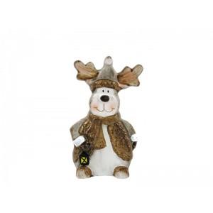 Karácsonyi figura 15cm szarvas