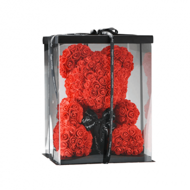 Virágmaci piros 24cm díszdobozban