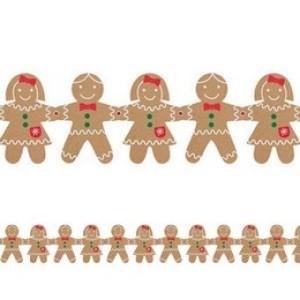 Mézeskalács Mintás Függő Dekoráció Karácsonyra - 157 cm