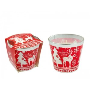 Illatos gyertya pohárban Scandinavian Christmas 9x8cm