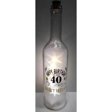 Ledes üveg 40. születésnapra