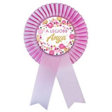 A legjobb Anya Kitűző Rózsaszín Szalagos