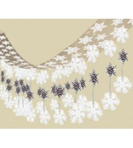 Hópelyhes Mennyezet Dekoráció - 30 cm x 3,6 m