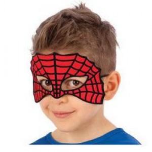 Piros - Fekete Csillámos Pókháló Szemmaszk Gyerekeknek