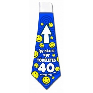 Nyakkendő 40-es kék