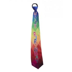 Nyakkendő színes Happy Birthday