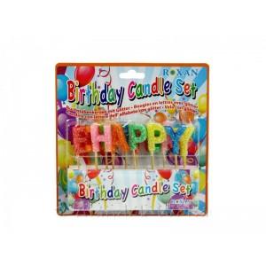 Gyertya Happy Birthday formájú