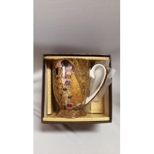 """G. Klimt porcelán bögre """"csók"""""""