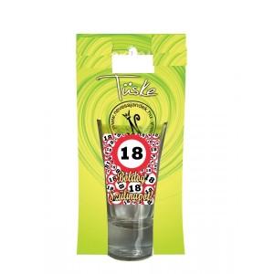 18-as pálinkás feles pohár 5 cl