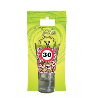 30-as pálinkás feles pohár 5cl