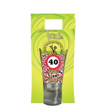 40-es pálinkás feles pohár 5cl