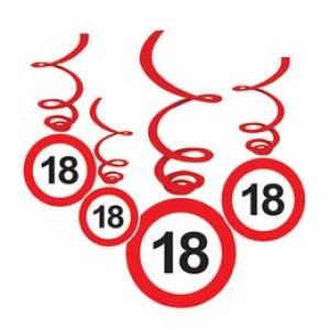 18-as Sebességkorlátozó Szülinapi Függődekoráció - 6 db-os