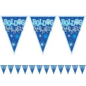 Boldog születésnapot zászlófûzér kék