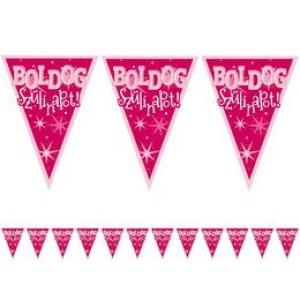 Boldog születésnapot zászlófûzér pink