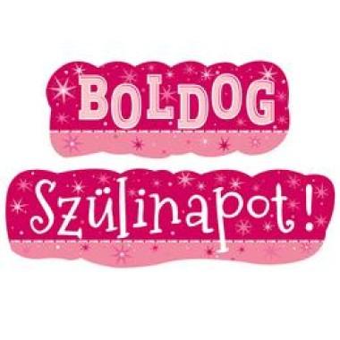 Boldog Szülinapot! Rózsaszín Lányos Banner