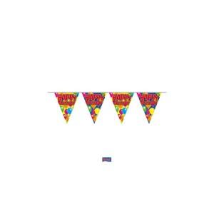 Zászlófűzér Happy Birthday 10 m-es