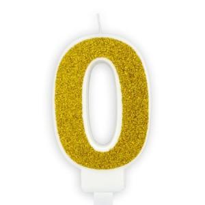 Arany szám gyertya 0-9