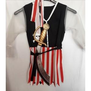 Kalóz  kislány ruha, karddal