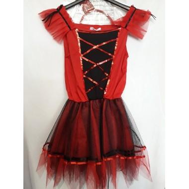 Ördög fekete-piros kislány ruha