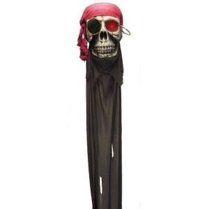 Halloween koponya, lógatható  világítós