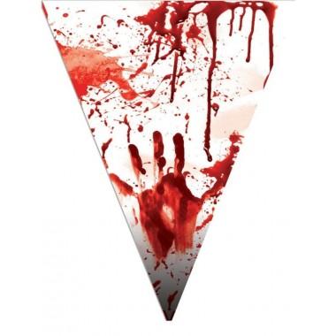 Halloween zászlófüzér véres kéz