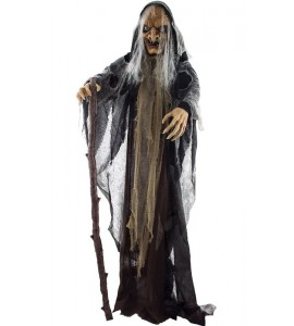 Halloween álló boszorkány fény, hang , mozgás