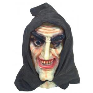 Csuklyás boszorkány álarc-maszk, latex
