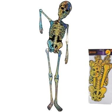 Halloween-re Csontváz Dekoráció Arany színű
