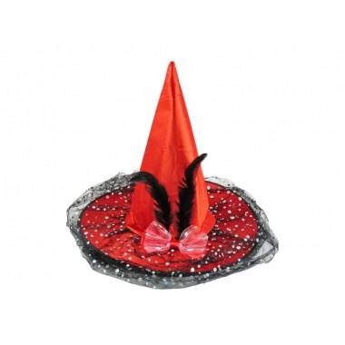 Boszorkány kalap masnis 38cm