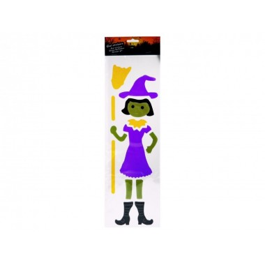 Gél matrica Halloween 15x53cm boszorkány