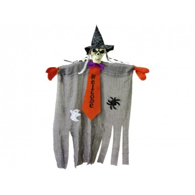 Halloween csontváz ajtódísz Welcome 75cm