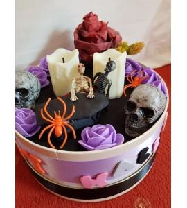 Halloween asztaldísz lila