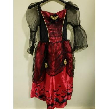 Halloween-re piros-fekete denevéres kislány ruha