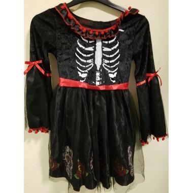 Halloween-re fekete-piros kislány ruha