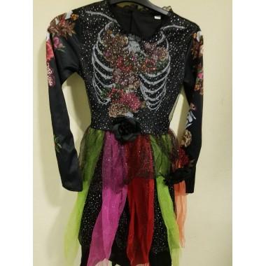 Halloween-re színes tüllös kislány ruha