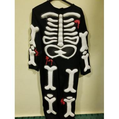 Halloween-re gyermek csontváz kezeslábas
